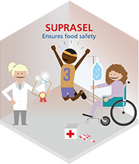 Suprasel ensures food safety. Suprasel: the food salt brand of Nouryon.